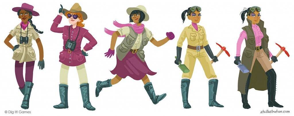 Character designs, Mayan Mysteries