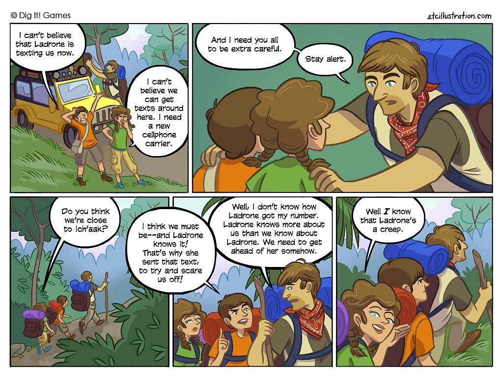 comic cutscene, Mayan Mysteries